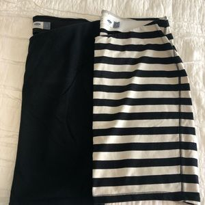 Two stretchy pencil skirts - maternity size s